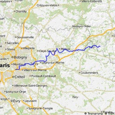 Paneuropa-Radweg (Paris - Prag) 2010 [Tag2]
