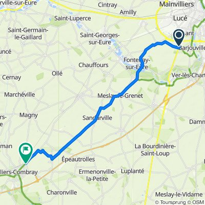 Moderate route in Illiers-Combray