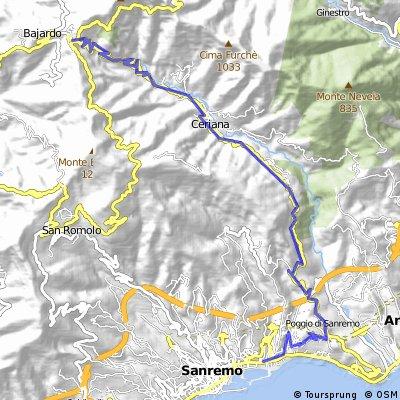 Sanremo - Passo Gimbegna