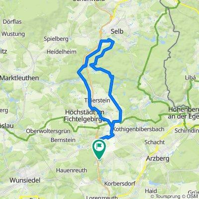 Thiersheim - Thierstein - Selb - Egertal - Neuenreuth