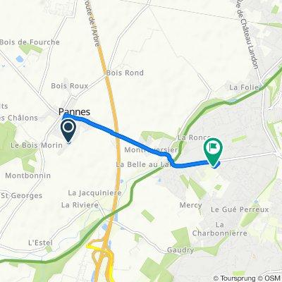 Itinéraire modéré en Pannes