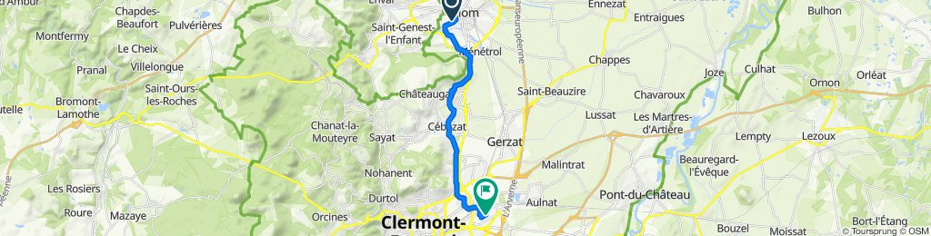 De 7 Allée de la Clairière, Riom à 18 Rue des Frères Lumière, Clermont-Ferrand