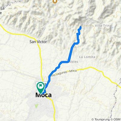 De Moca a Calle Rosario 50, Moca