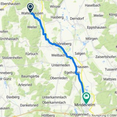 Hairenbucher Straße 7, Waltenhausen nach Landsberger Straße 8, Mindelheim