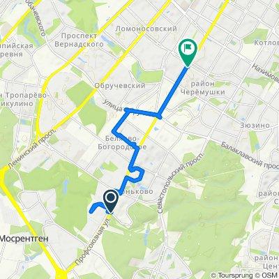 От Профсоюзная улица, 121/34, Москва до Профсоюзная улица, Москва