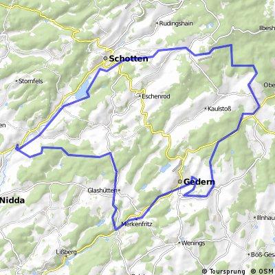 Niddastausee - Hoherrodskopf - Vulkanradweg - Ziegelhütte