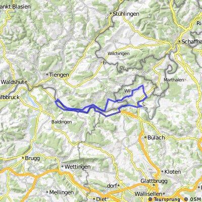 Rafz-Eglisau-Zweidlen-Weiach-Fisibach-Zurzach-Lienheim-Rafz