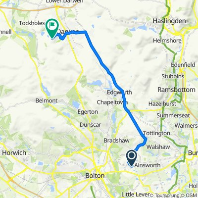 Route from 112 Tetbury Drive, Bolton