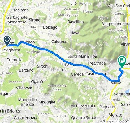 Da Via Briantea, Bulciago a Via Como 152, Brivio