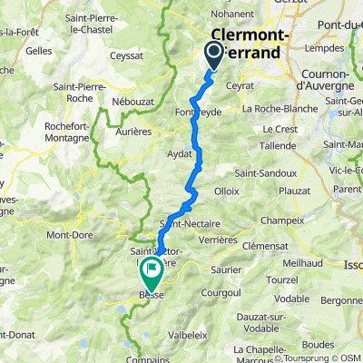 2 Route de Manson, Royat to 27 Route de Clermont, Besse-et-Saint-Anastaise