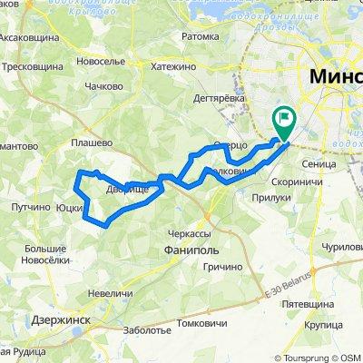 От проспект Дзержинского 126, Минск до улица Наполеона Орды 9, Минск