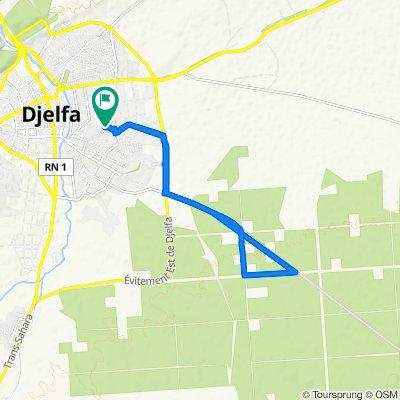 De Unnamed Road, Djelfa à Route Elwiam, Djelfa