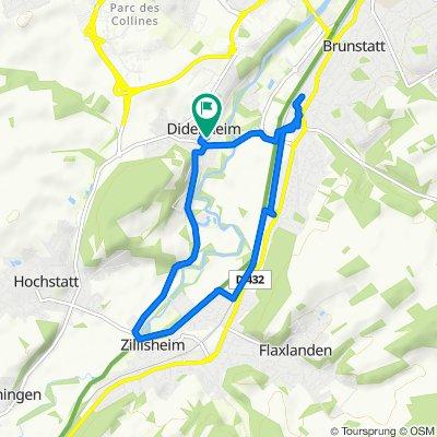 Moderate route in Didenheim