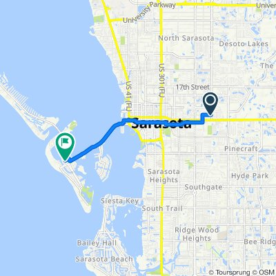 North Lockwood Ridge Road 333, Sarasota to North Boulevard of the Presidents 29, Sarasota