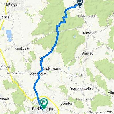 Julius-Schlegel-Straße 17, Dürmentingen nach Hauptstraße 102, Bad Saulgau