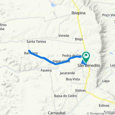 Restful route in São Benedito