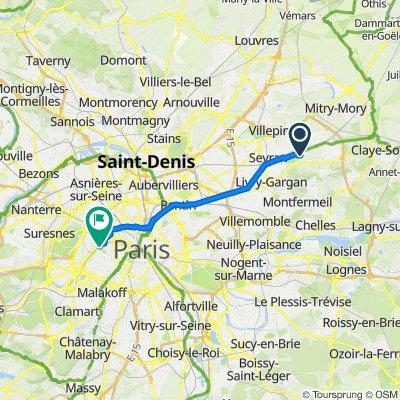 De Avenue du General de Gaulle 46, Vaujours à Avenue Anatole France 5, Paris