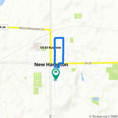 South Walnut Avenue 238, New Hampton to South Walnut Avenue 238, New Hampton