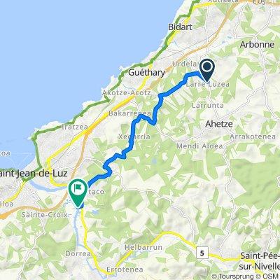 De Route de Larreluzea, Ahetze à Chantaco Sud, Saint-Jean-de-Luz