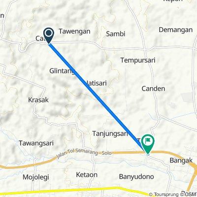 Jalan Sambi to Jalan Bangak - Simo, Kecamatan Banyudono