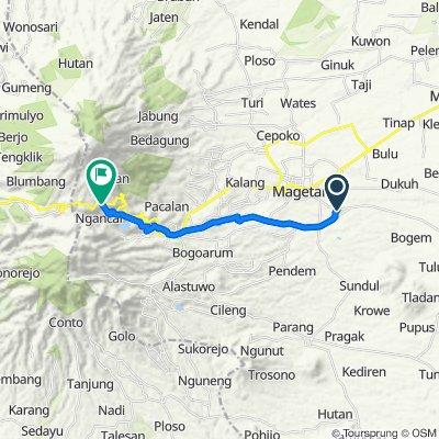 Panasan, Ngariboyo to Jalan Tawangmangu-Plaosan 16, Kecamatan Plaosan