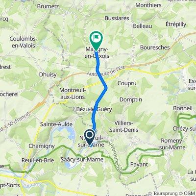 Itinéraire vers 26 Rue de la Fontaine, Marigny-en-Orxois