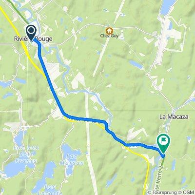 297–300 Rue Labelle S, Rivière-Rouge to 2–164 Ch des Cascades, La Macaza