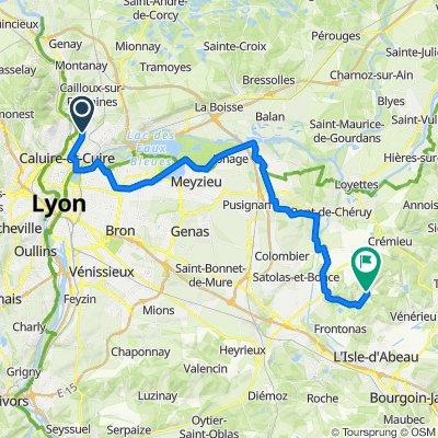 De 23 Avenue des Marronniers, Fontaines-sur-Saône à Route de Moras, Veyssilieu
