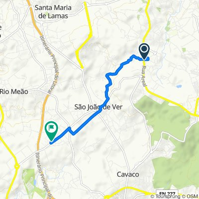 Rua Luís de Camões 84, Santa Maria da Feira to Rua da Gândara 583–607, Santa Maria da Feira