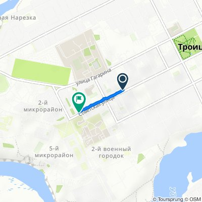 Restful route in Троицк