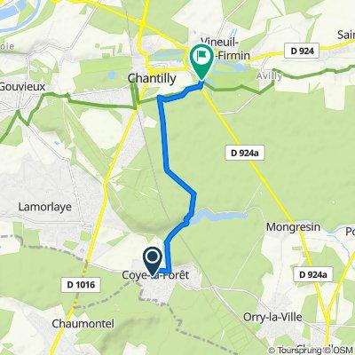 Itinéraire à partir de Rue Blanche 50, Coye-la-Forêt