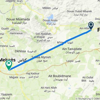 De N4, Douyet à Rocade Sud, Meknès