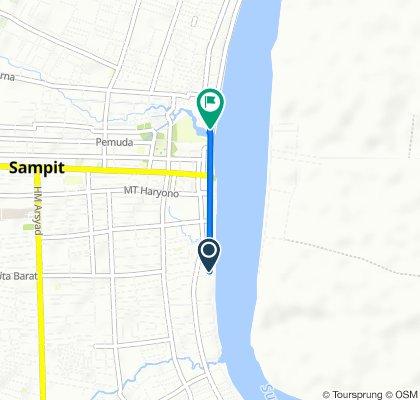 Jalan Iskandar 184, Mentawa Baru/Ketapan to Jalan Usman Harun 39, Baamang