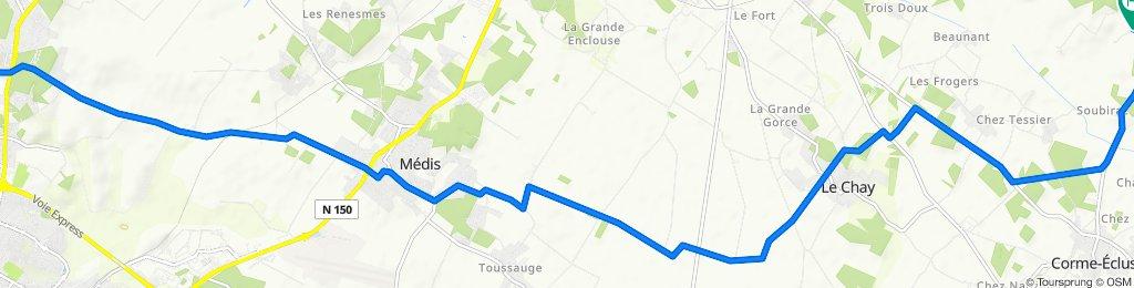 De 14 Impasse des Vignes, Royan à 3 Chemin de la Coudray, Meursac