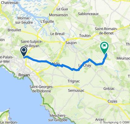 De 14 Impasse des Vignes, Royan à 18 Route de Chalbart , Meursac