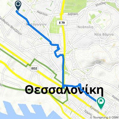 Route from Γευγελής 46, Αμπελόκηποι