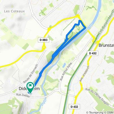 Restful route in Didenheim
