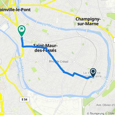 De 3 Avenue de Chanzy, Saint-Maur-des-Fossés à 31 Rue du Pont de Créteil, Saint-Maur-des-Fossés
