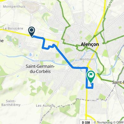 Supersonic route in Alençon