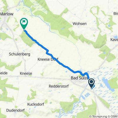 Route von Tribseeser Straße, Bad Sülze