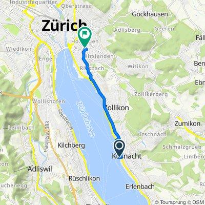 Hornweg 16, Küsnacht to Minervastrasse 50, Zürich