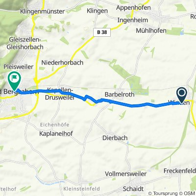 Im Glockenzehnten 4, Winden nach Königstraße 56, Bad Bergzabern