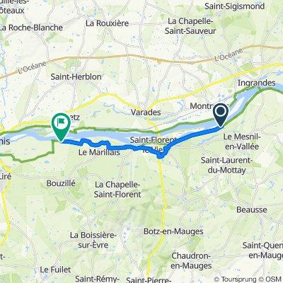 D210, Mauges-sur-Loire naar Les Babins 511, Orée-d'Anjou