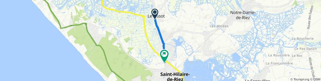 Slow ride in Saint-Hilaire-de-Riez