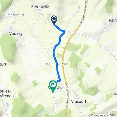 Slow ride in Balléville