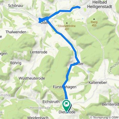 Am Berge 4, Dieterode nach Dorfstraße 9, Dieterode