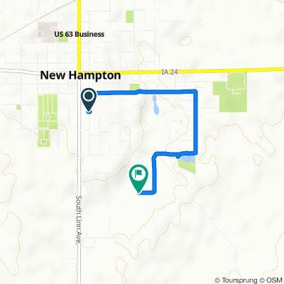 South Walnut Avenue 234, New Hampton to South Locust Avenue 800, New Hampton