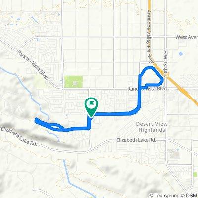 39129 Silverberry Ln, Palmdale to 39130 Silverberry Ln, Palmdale