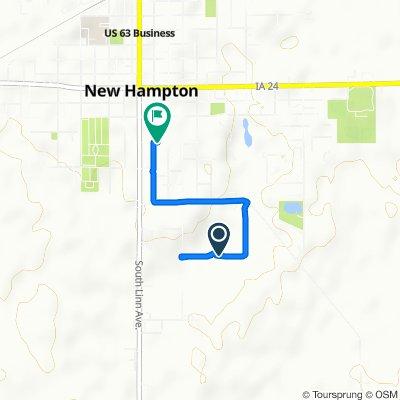 South Locust Avenue 800, New Hampton to South Walnut Avenue 234, New Hampton