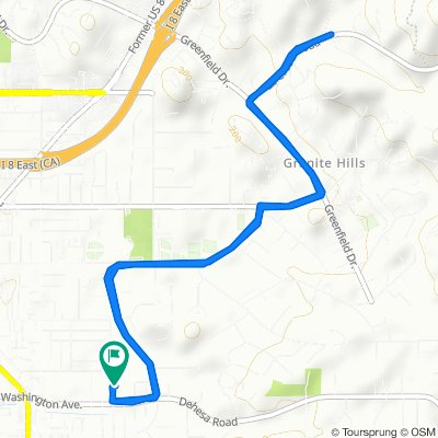 Relaxed route in El Cajon
